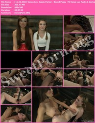 TSPussyHunters.com [11.22.2013] Venus Lux & Jessie Parker - Bound Pussy -TS Venus Lux Fucks A tied up Pussy Cums Twice All over Her Thumbnail